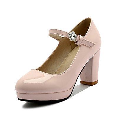 LFNLYX Frauen Fersen Frühling Sommer Andere Ankle Strap Lackleder Hochzeitsfeier & Abendkleid Chunky Ferse Rhinestone Schwarz Rosa Beige Andere Pink