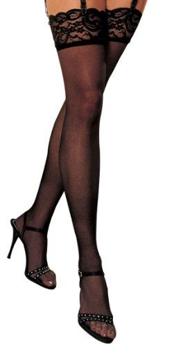 Shirley of Hollywood Nummer 90026One Size Schwarz Lace Top Oberschenkel hohe (Strumpfhalter Shirley Hollywood-damen)