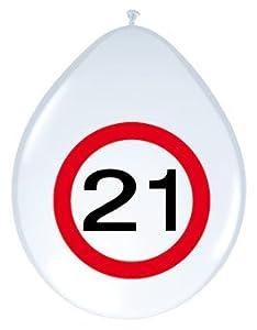Folat 8Impresa Globos Número 21Señal de tráfico Cumpleaños Decoración