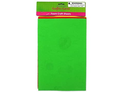 3 Pack foam craft sheets (assorted colors), Case of 36 by krafters korner