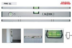 Magnetwasserwaage (12 starke Magnete) - Aluminium eloxiert - Länge: 180cm / 1,8m - PMG11Z