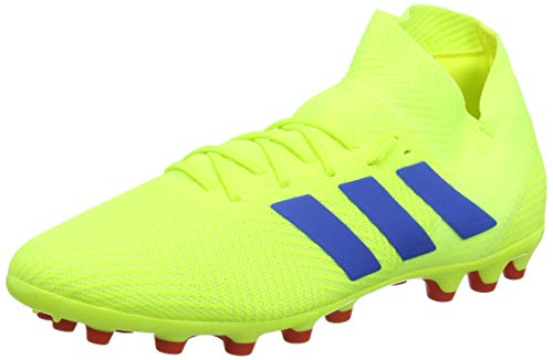adidas Nemeziz 18.3 AG, Zapatillas de Fútbol para Hombre, Amarillo Solar Yellow/Football Blue/Active Red, 43 1/3 EU