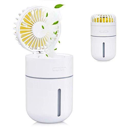 Ventilateur Portatif De Pulvérisation Ventilateur De Lumière LED 3 Dans 1 Mini-ventilateurs De...