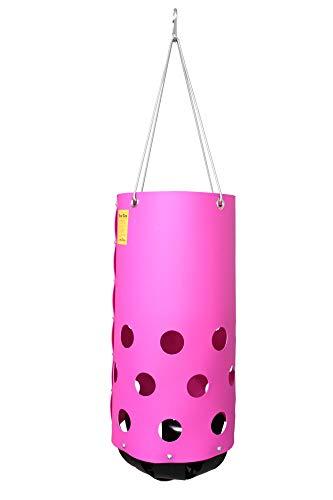 HeuToy - Pink (Bausatz) Futtersack, Heutasche, Heunetz, Tonne für Heu in Pink
