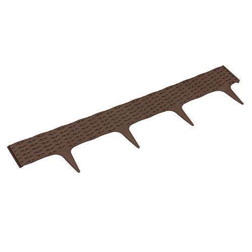 Palissade Garden Ratan Rotin 3,9 m bord bordure jardin decoration marron