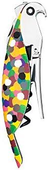 Alessi AAM32 1 Proust Parrot Cavatappi per Vino di Design, in Alluminio Profuso e PC, Multicolore