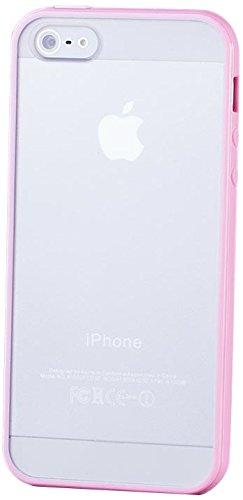 Apple iPhone SE / 5S / 5 | iCues pare-chocs TPU avec Matte Retour Case Light Blue | [Protecteur d'écran, y compris] protecteur de feuille transparente Temps clair de gel de silicone Housse étui de pro MATT Rosa