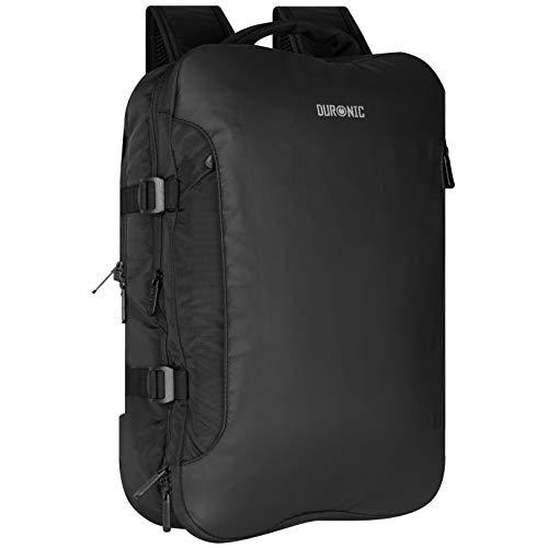 Duronic LB325 zaino da viaggio con tasca per laptop e tablet - 55 x 40 x 20 cm - bagaglio a mano/cabina universale - resistente all'acqua - viaggi, sport, scuola, outdoor, daypack