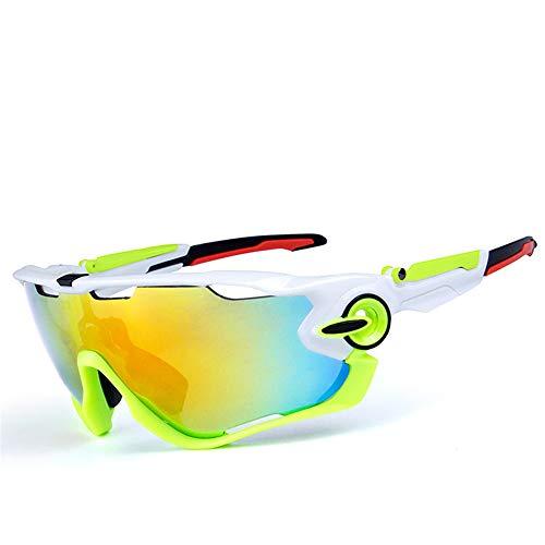 Easy Go Shopping Sport-Sonnenbrille für Mountainbiken Sonnenbrillen und Flacher Spiegel (Farbe : C10)