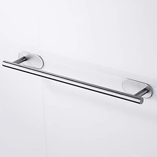 Toallero de barra autoadhesivo de 50 cm para colgar en la pared de la cocina o el baño, de acero inoxidable SUS 304