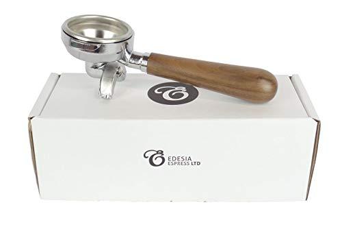 Ersatz-Siebträger für LA SCALA-Espressomaschinen - Walnuss-Griff, 2 Ausläufe - 14 g Sieb - 2 Tassen