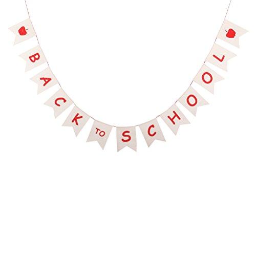 BESTOYARD Zurück zu Schule Bunting Banner Schild Form Anhänger Fahnen Schule Party Fotografie Requisiten Klassenzimmer Dekor DIY Hängen Handwerk
