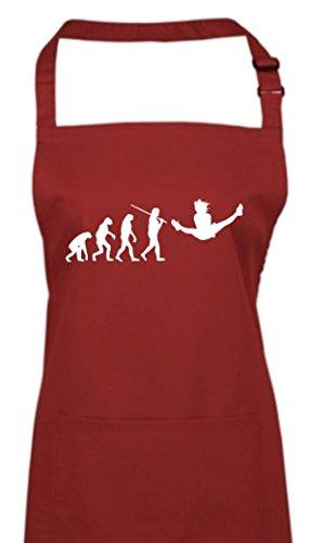 Krokodil Kochschürze Evolution Gymnastik Tanz Akrobatik Bodenturnen Ballet, Farbe burgundy (Nussknacker Tanz Kostüm)