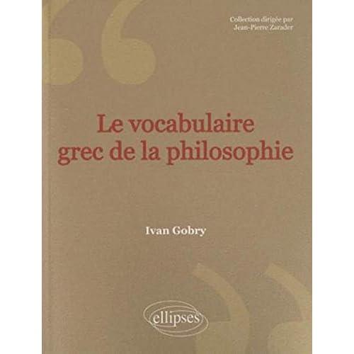 Vocabulaire grec de la philosophie