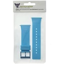 nanox - Apple iPod nano silicone strap (Blue strap / Blue buckle)