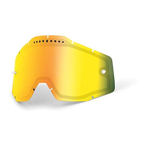 100% Race Craft/ACCURI/strta Vented Dual Pane lentille anti brouillard, rouge taille unique