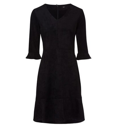 zero Damen Kleid in Velourslederoptik 313884 black 38
