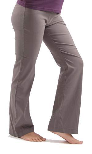 Christoff Damen Umstandshose Hose Boot Cut Umstandsmode (40L (Herstellergröße: 40/34L), braun)