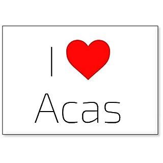 Mundus Souvenirs - Ich Liebe Acas, Kühlschrankmagnet (Design 2)