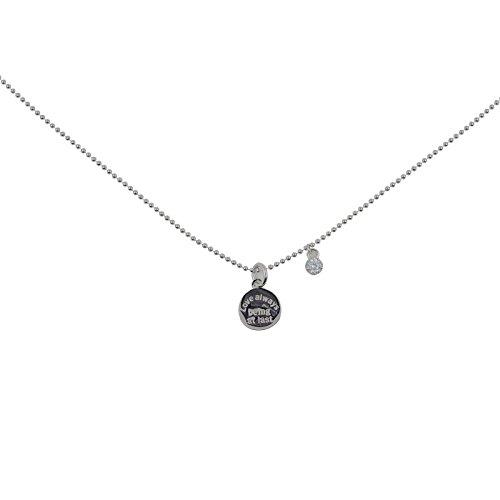 Hongrun 925 Briefe runde Platte einfache Halskette collarbone Kette (Brief-platte)