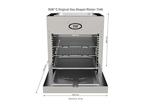 928°C Original Grill Doppel Röster. S70T. 7 kW. Doppelwandiger Oberhitze-Grill mit