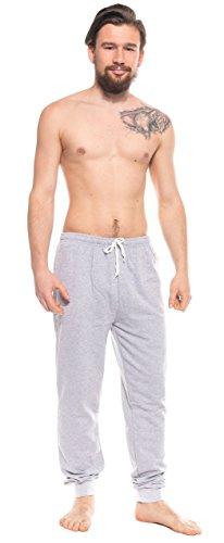 Jack Jordan tolle Herren-Sporthose Jogginghose Wellnesshose mit Taschen und Bündchen, graumelange, Gr. XXL