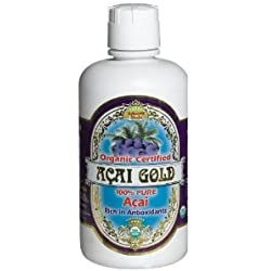 Dynamic Acai Gold 100% Reiner organischer Saft 32 FZ (9 Stück)