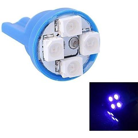 Gc® t10 4w 120lm 4 × 3528 SMD llevó la luz azul de la luz del instrumento del coche / la puerta / lámparas tronco (12v