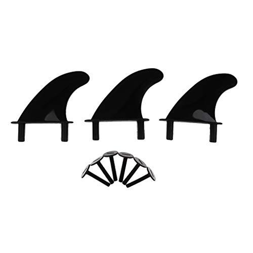 F Fityle 3Pcs Soft Top Surf Fin Tablas Surf Softboard