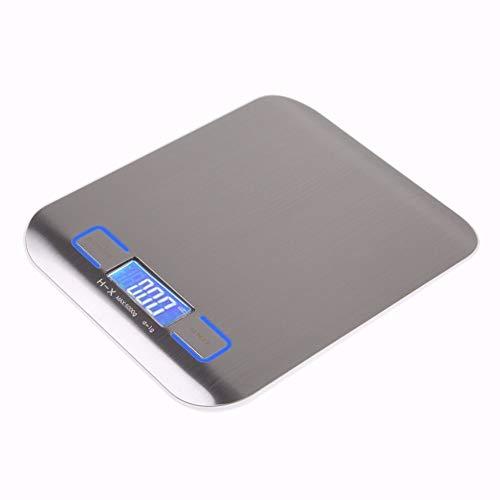 DuDuDu Électronique Balance de Cuisine numérique Alimentaire échelle en Acier Inoxydable pesant échelle LCD Haute précision de Mesure TOOLS11 LB / 5000g