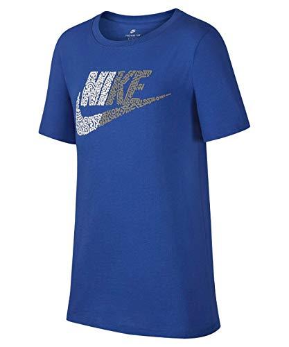 Nike Jungen Half Futura T-Shirt, Blau (Game Royal/White/480), Gr. XS