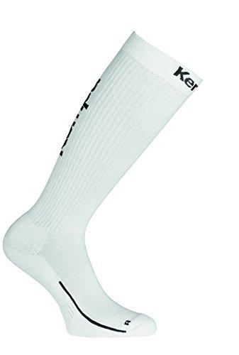Kempa Lang-200354501 Herren Socken, weiß/Schwarz, 41-45