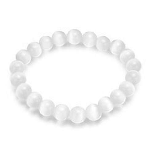 SHOUAQI Armband Naturstein Balls Bracelet & Bangle Kurze Weiße Opal Perlen Armband Hand Kette Für Frauen Vintage