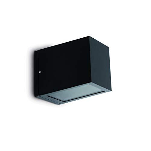 Faro Barcelona Siegellack 70802-durchscheinend Wandleuchte, 100W, Aluminium und Linsen aus Glas, Grau