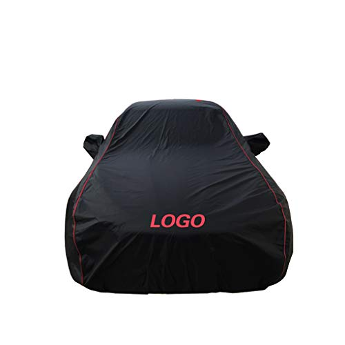 YL qichezhao Car cover BMW car cover Waterproof car clothes UV protection Dustproof Windproof Black outside car cover (Size: 240i)