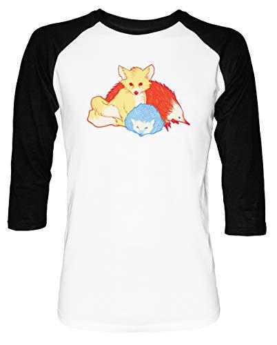 Schnell Freunde Herren Damen Unisex Baseball T-Shirt Weiß Schwarz 2/3 Ärmel Women's Men's Unisex