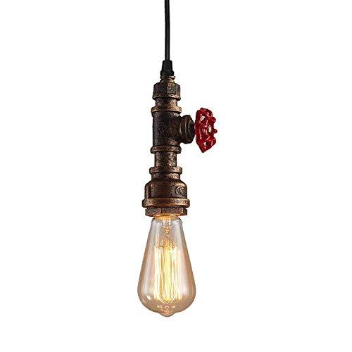 Lámpara de Pared Tubería de Agua Aplique de Pared Industrial Retro Luz de Pared Hierro E27 para Restaurante...