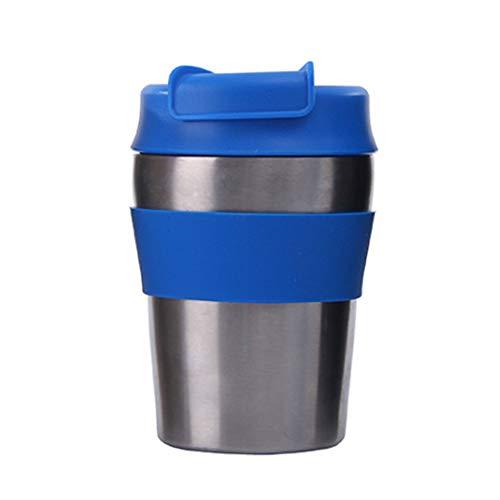 XINYANG Tasse À Café De Tasse De Voyage De Voiture De Thermos d'acier Inoxydable De Double Fiole À Vide Isolée par Vide,Blue