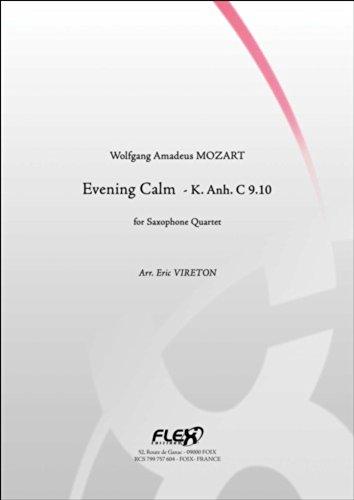 PARTITION CLASSIQUE - Calme du Soir - W. A. MOZART - Quatuor de Saxophones