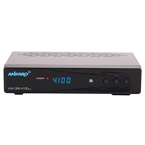Ankaro DSR 4100 Plus Full HD digitaler Satelliten-Receiver (HDTV 1080p, DVB-S/S2, HDMI, SCART, 1x USB 2.0, Easyfind, CSS, Hello) [vorprogrammiert für Astra Hotbird] mit PVR und Timeshift - schwarz Ntsc-hdtv-tuner