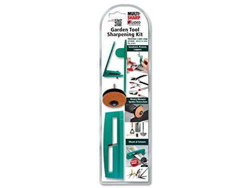 MULTI-SHARP 1801 Trousse d'affûtage de lames multi-usages pour outils de jardin, tondeuses, ciseaux, cisailles et autres