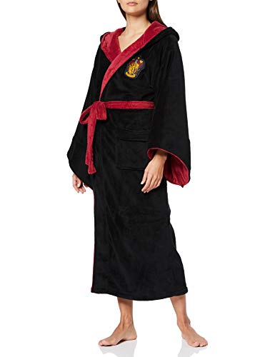 Groovy Gryffindor-Womens-Bathrobe Accappatoio Harry Potter, Cotone, Multicolour, 42cm