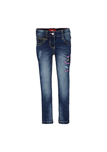 Juniors Jeans (s.Oliver RED LABEL Junior Mädchen Skinny Kathy: Jeans mit Stitchings blue denim stretch 134.REG)