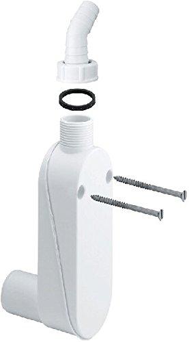 Viega Maschinen-Aufputz-Geruchverschluss, nach DIN EN 274, A 1Zoll, B Durchmesser 40 mm, C 19-23 mm, 1 Stück, VIE364625