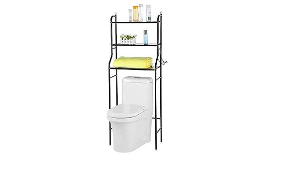 Toilette WC 56 x 25 x 151 Centimetri,White mobiletto del Bagno con scaffalatura scaffale Strato 3 FANQIE Mobile sopra la Toilette