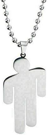 Pendant Necklace Stainless Billie Eilish Steel Stickman Unisex Fashion Jewelry