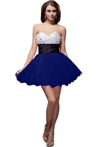 Sunvary nuovo arrivo una linea Homecoming Dress-Vestito corto in Organza Royal Blue