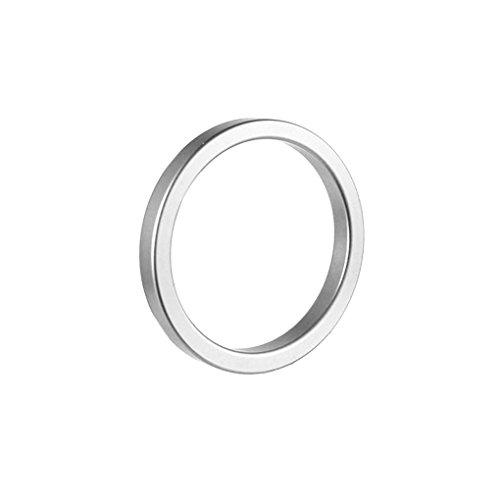 Babysbreath Metall Aluminium Penis Ringe männliche Cockringe verzögert Ejakulation Delay Lock Loops Cock Rings Silber- 50mm