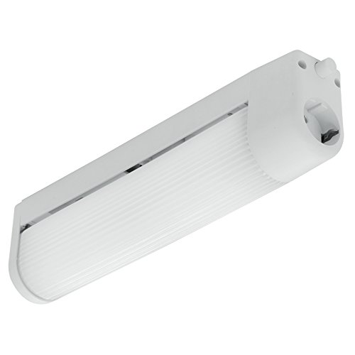 EGLO 89672 Spiegelleuchte Bari 1 aus Kunststoff mit einem Druckknopf und Steckdose, Plastik, weiß
