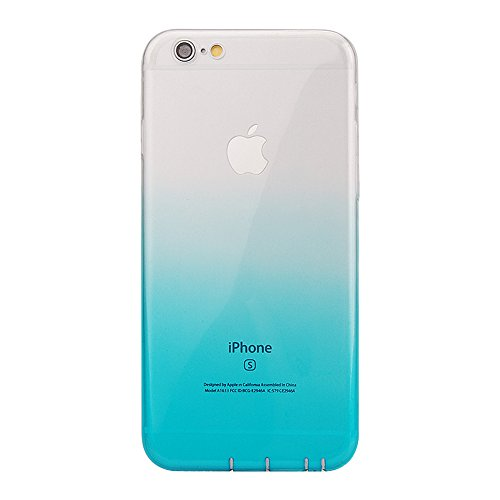Pridot Gradient Colour TPU Custodia Case for iPhone SE 5S 5 Ultra Thin Caso Anti Slip Soft Bumper Scratch Resistant Back Cover Crystal Clear Flexible Silicone Case - Blue Sky 80207 Blu